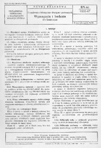 Wymagania i badania techniczne