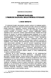 WYMIARY ZAUFANIA I PROBLEM ZAUFANIA NEGATYWNEGO W POLSCE