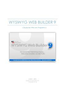 WYSIWYG WEB BUILDER 9