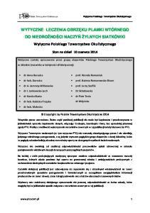 Wytyczne Polskiego Towarzystwa Okulistycznego