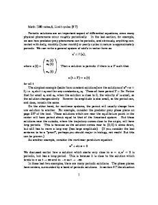 x 0 = f (x) ; x (t + T ) = x (t)