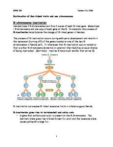 X-chromosome inactivation