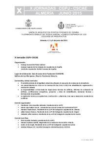 X Jornadas CGPJ-CSCAE