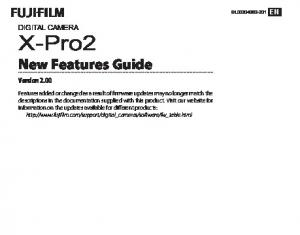 X-Pro2 New Features Guide