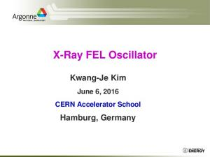 X-Ray FEL Oscillator