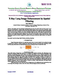X-Ray Lung Image Enhancement by Spatial Filtering