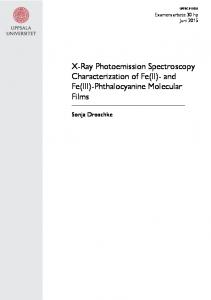 X-Ray Photoemission Spectroscopy Characterization of Fe(II)- and Fe(III)-Phthalocyanine Molecular Films