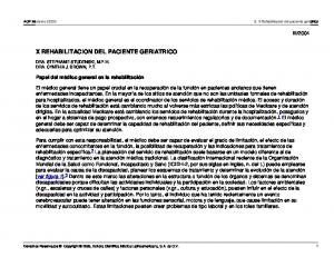 X REHABILITACION DEL PACIENTE GERIATRICO