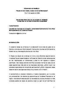 X Seminario de RedMuni: Nuevo rol del Estado, nuevo rol de los Municipios 13 y 14 de agosto de 2009