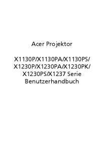 X1237 Serie Benutzerhandbuch
