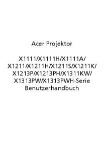 X1313PWH-Serie Benutzerhandbuch