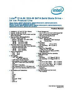 X25-M SATA Solid State Drive - 34 nm Product Line