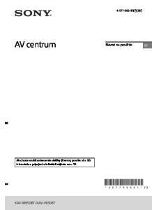 XAV-V630BT. Návod na použitie (1) (SK)