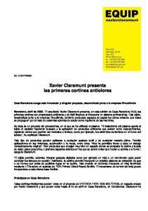 Xavier Claramunt presenta las primeras cortinas antiolores