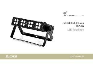 xbrick Full-Colour 16 3W LED floodlight user manual