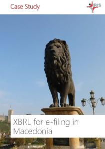 XBRL for e-filing in Macedonia