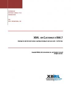XBRL OR CUSTOMIZED XML?