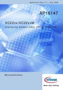 XC22xxM. Interfacing XC22xx-USIC_SPI to TLE6209R. Microcontrollers