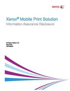 Xerox Mobile Print Solution