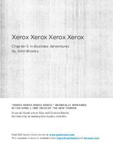 Xerox Xerox Xerox Xerox