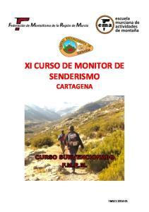 XI CURSO DE MONITOR DE SENDERISMO CARTAGENA