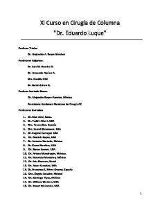 XI Curso en Cirugía de Columna