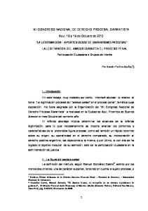 XII CONGRESO NACIONAL DE DERECHO PROCESAL GARANTISTA. Azul, 18 y 19 de Octubre de 2012