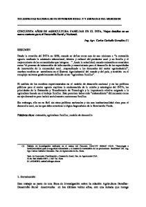 XIII JORNADAS NACIONALES DE EXTENSION RURAL Y V JORNADAS DEL MERCOSUR