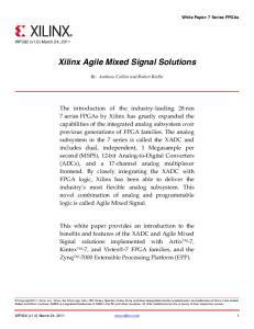 Xilinx Agile Mixed Signal Solutions