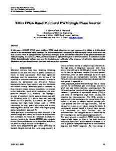 Xilinx FPGA Based Multilevel PWM Single Phase Inverter