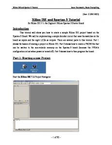 Xilinx ISE and Spartan-3 Tutorial