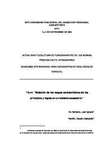 XIV CONGRESO NACIONAL DE DERECHO PROCESAL GARANTISTA