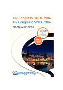XIV Congreso SINUG 2016 XIV Congresso SINUG