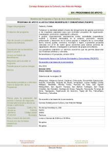 XIV. PROGRAMAS DE APOYO