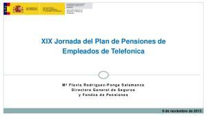 XIX Jornada del Plan de Pensiones de Empleados de Telefonica