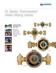 XL Series Thermostatic Water Mixing Valves