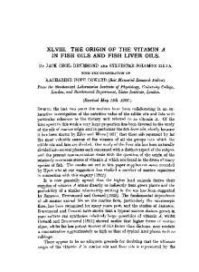 XLVIII. THE ORIGIN OF THE VITAMIN A IN FISH OILS AND FISH LIVER OILS
