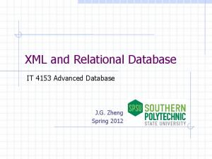 XML and Relational Database
