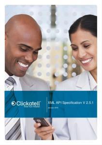 XML API Specification V 2.5.1