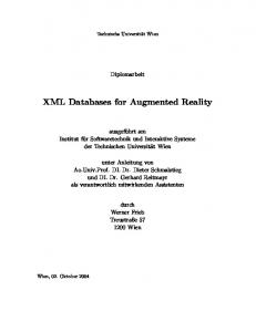 XML Databases for Augmented Reality