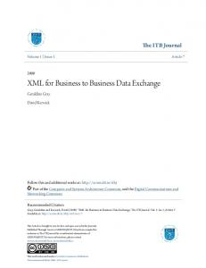XML for Business to Business Data Exchange