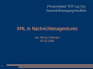 XML in Nachrichtenagenturen