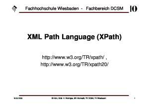 XML Path Language (XPath)