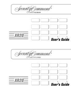 XR20 XR20. User s Guide. User s Guide