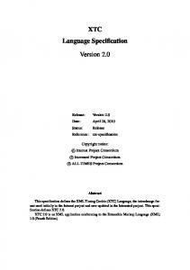 XTC Language Specification. Version 2.0