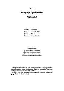 XTC Language Specification. Version 2.4