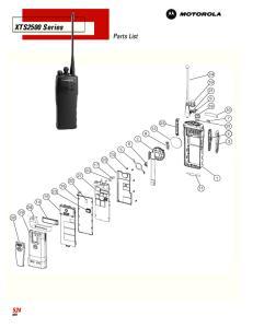 XTS2500 Series Parts List