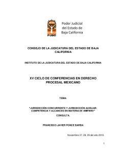 XV CICLO DE CONFERENCIAS EN DERECHO PROCESAL MEXICANO