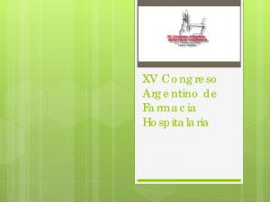 XV Congreso Argentino de Farmacia Hospitalaria