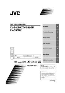 XV-S45GD XV-S30BK
